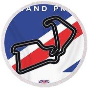 My British Grand Prix Minimal Poster Round Beach Towel