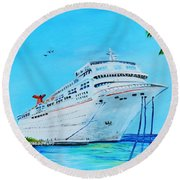 My Carnival Cruise Round Beach Towel