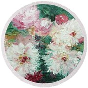 My Chrysanthemums Round Beach Towel