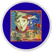 Round Beach Towel featuring the photograph My Circus by Jeff Burgess