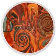 My Cold Soul Melting Round Beach Towel