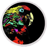 My Colorful Mccaw Round Beach Towel