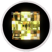 My Cubed Mind - Frame 019 Round Beach Towel
