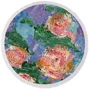 My Father's Roses Round Beach Towel