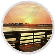 My Favorite Place Round Beach Towel by Benanne Stiens