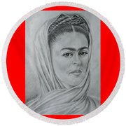 My Frida... Round Beach Towel