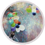 My Friend The Wind. Round Beach Towel
