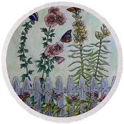 My Garden Round Beach Towel