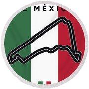 My Gran Premio De Mexico Minimal Poster Round Beach Towel