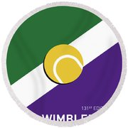 My Grand Slam 03 Wimbeldon Open 2017 Minimal Poster Round Beach Towel by Chungkong Art