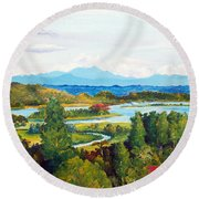 My Homeland Round Beach Towel