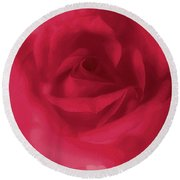 My Love Rose Round Beach Towel