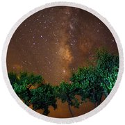 My Milky Way Round Beach Towel