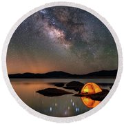 My Million Star Hotel Round Beach Towel