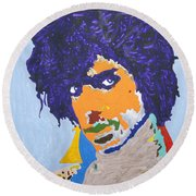 My Name Is Prince  Round Beach Towel