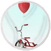My Red Balloon Round Beach Towel