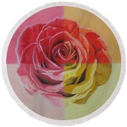 My Rose Round Beach Towel