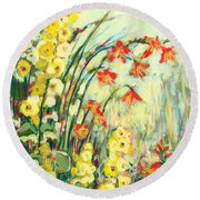 My Secret Garden Round Beach Towel