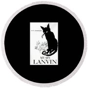 Round Beach Towel featuring the digital art My Sin by ReInVintaged