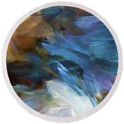 Round Beach Towel featuring the digital art My Soul Finds Rest In God by Margie Chapman