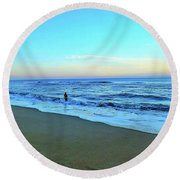 My Soul Searches  Round Beach Towel by Christy Ricafrente
