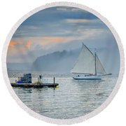 My Special Place Round Beach Towel