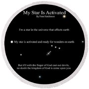 My Star Is Activated Round Beach Towel