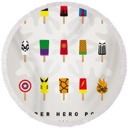 My Superhero Ice Pop - Univers Round Beach Towel