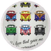 My Superhero-vw-t1-supermanmy Superhero-vw-t1-universe Round Beach Towel