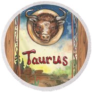 My Taurus Round Beach Towel
