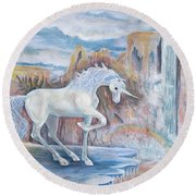 My Unicorn Round Beach Towel