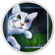Till There Was You Round Beach Towel