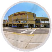 Myrtle Beach Pavilion Building Round Beach Towel