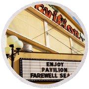 Myrtle Beach Pavilion Farewell Round Beach Towel