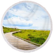 Myrtle Beach State Park Boardwalk Round Beach Towel