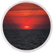 Myrtle Beach Sunrise 1 Round Beach Towel