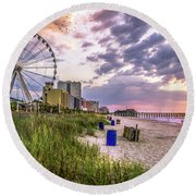 Myrtle Beach Sunrise Round Beach Towel