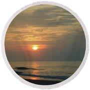 Myrtle Beach Sunrise Round Beach Towel