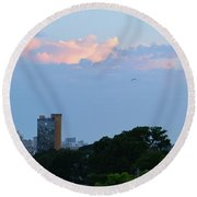 Myrtle Beach Sunset Round Beach Towel