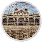 Mysore Palace Round Beach Towel
