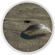 Mysterious Feather Round Beach Towel
