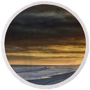 Round Beach Towel featuring the photograph Mysterious Myrtle Beach by Kelly Reber