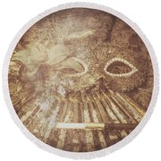 Round Beach Towel featuring the photograph Mysterious Vintage Masquerade by Jorgo Photography - Wall Art Gallery