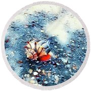 Mystic Conch Round Beach Towel