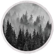 Round Beach Towel featuring the photograph Mystic  by Dustin LeFevre