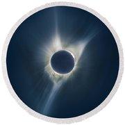 Mystic Eclipse  Round Beach Towel