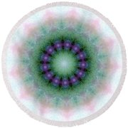 Mystic Light Round Beach Towel by Shirley Moravec