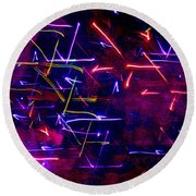 Round Beach Towel featuring the digital art Mystic Lights 8 by Donna Corless