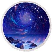 Mystic Lights Round Beach Towel by Gabriella Weninger - David