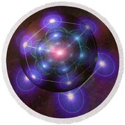 Mystical Metatron Round Beach Towel